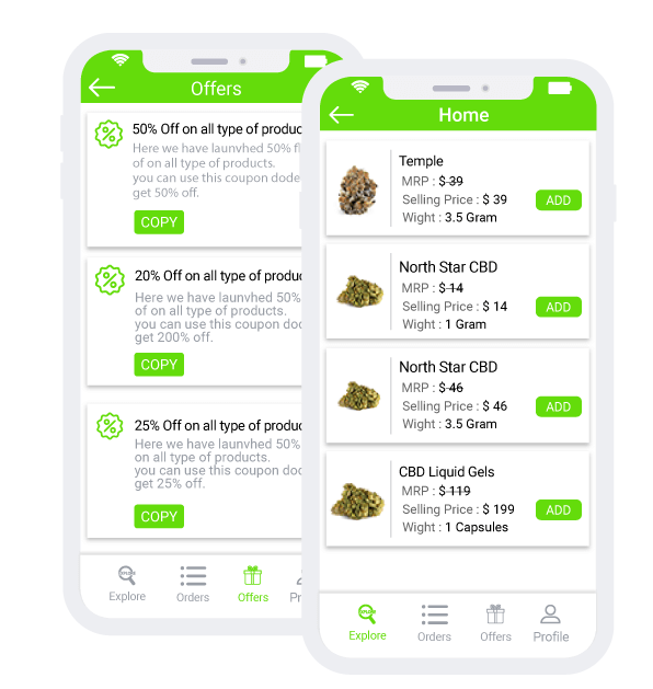 Cannabis Delivery App services